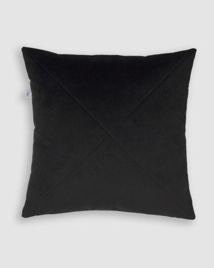 Confeccionada em ME na cor black. O preenchimento é feito em fibra siliconada. Possui zíper invisível.