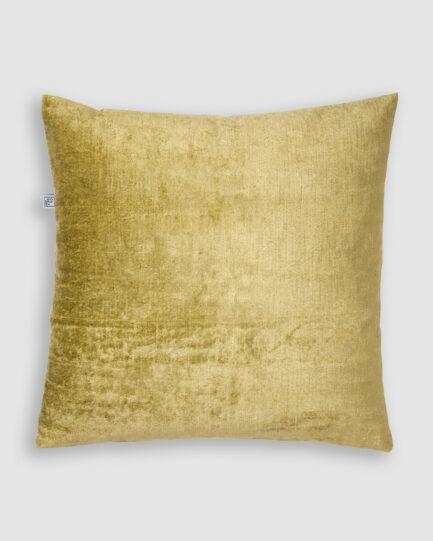 Confeccionada em veludo de linho na cor verde. O preenchimento é feito em fibra siliconada. Possui zíper invisível.